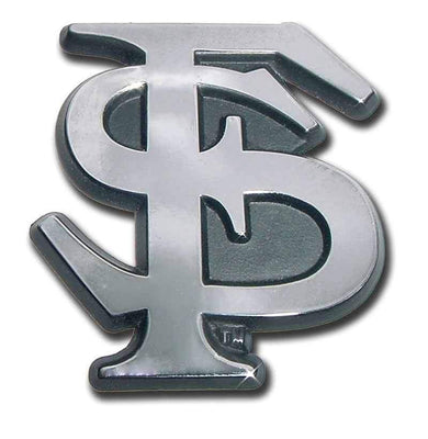 Florida State University Interlocking FS Chrome Car Emblem