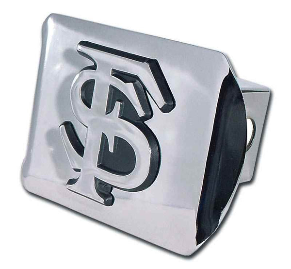 Florida State University Interlocking FS Shiny Chrome Hitch Cover