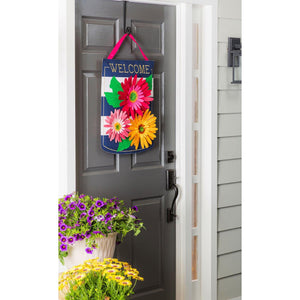 Gerbera Welcome Decorative Door Hanger Live
