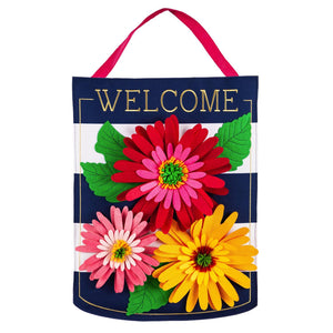 Gerbera Welcome Decorative Door Hanger
