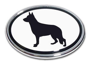 German Shepherd Chrome Car Emblem