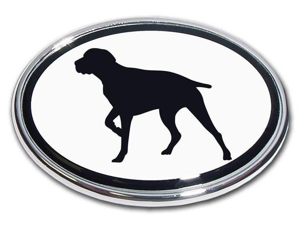 Pointer Chrome Car Emblem