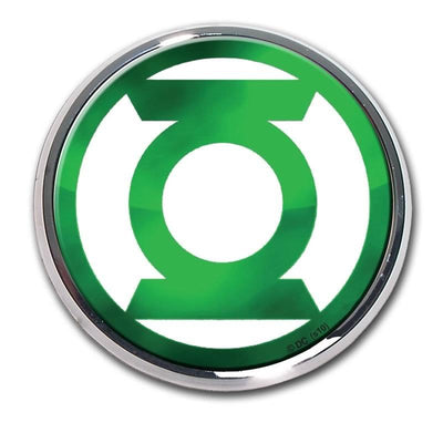 Green Lantern Chrome with Color Car Emblem
