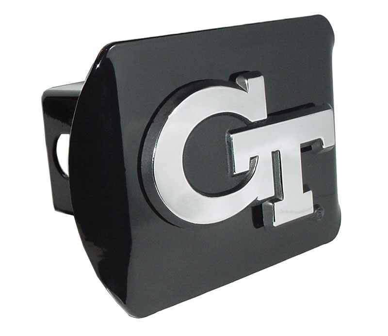 Georgia Tech Interlocking GT Black Hitch Cover
