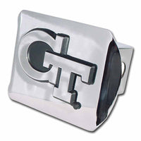 Georgia Tech Interlocking GT Shiny Chrome Hitch Cover
