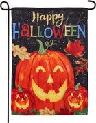 Haunted Happy Halloween Suede Reflections Garden Flag