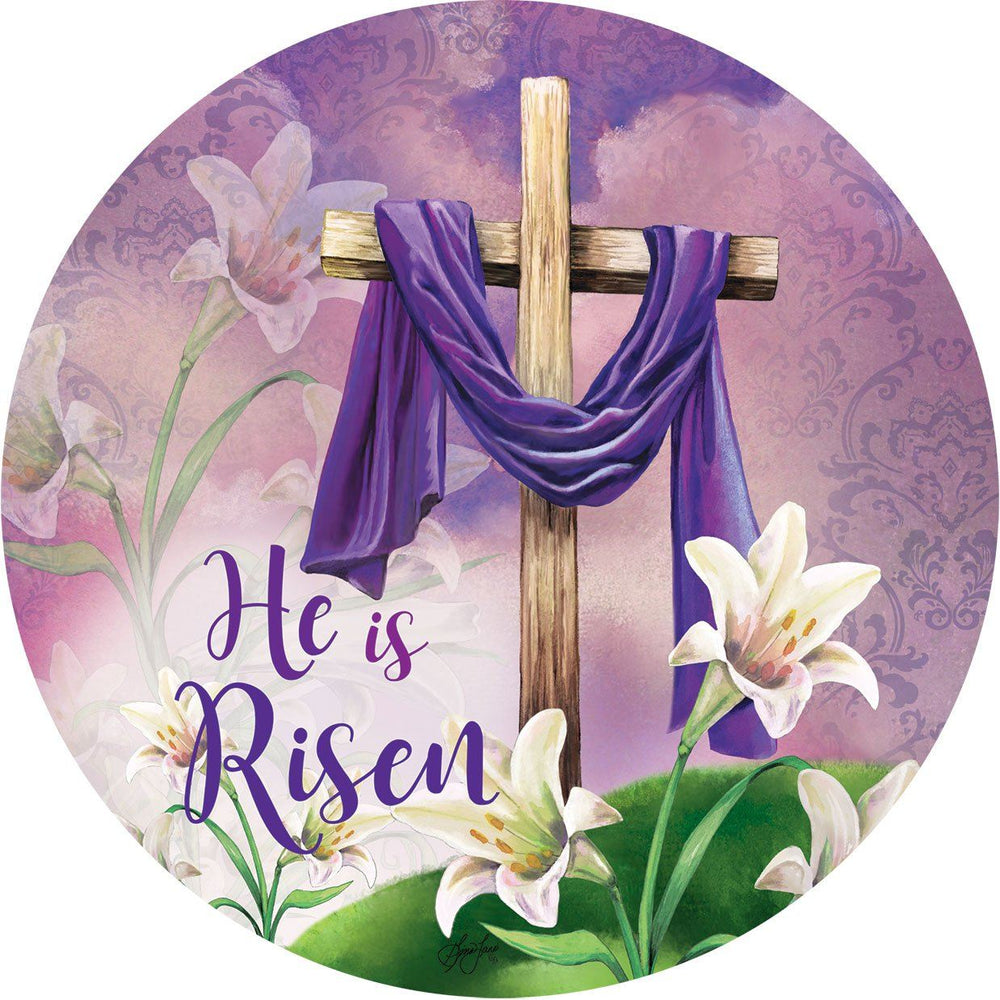 He Is Risen Purple Robe Accent Magnet