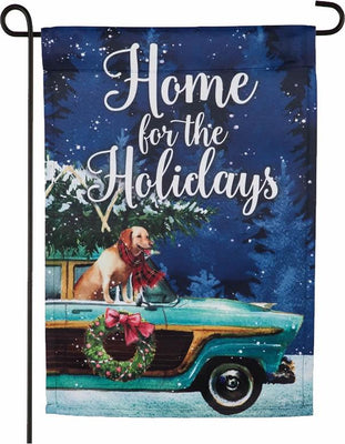 Home for the Holidays Suede Reflections Garden Flag