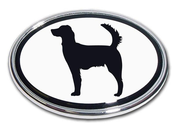 Irish Setter Chrome Car Emblem