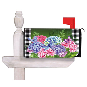 Hydrangea Checks Nylon Mailbox Cover