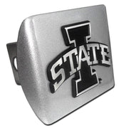 Iowa State University Brushed Chrome Hitch Cover