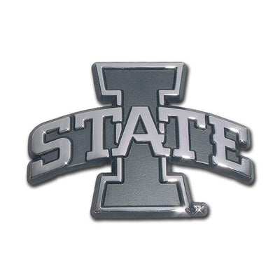 Iowa State University Chrome Car Emblem
