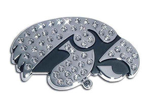 University of Iowa Hawkeyes Crystal Chrome Car Emblem