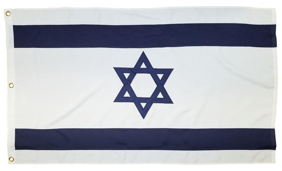 Israel Star of David Flag 3x5 2-Ply Polyester