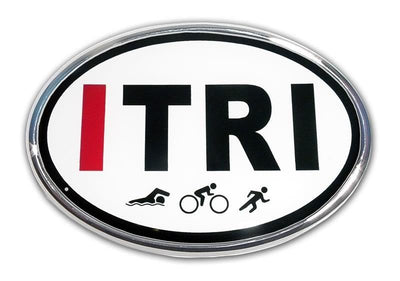 ITRI Triathlon Chrome Car Emblem