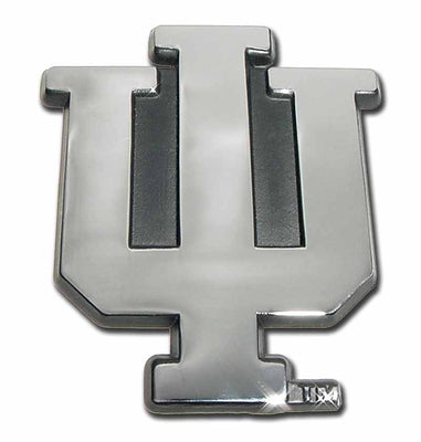 Indiana University Chrome Car Emblem