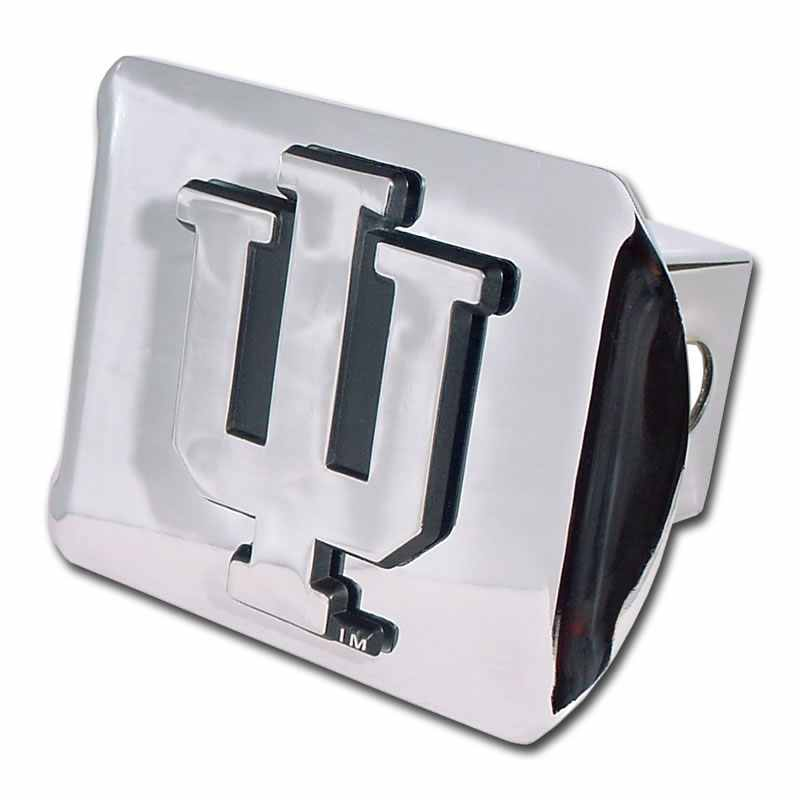 Indiana University Shiny Chrome Hitch Cover