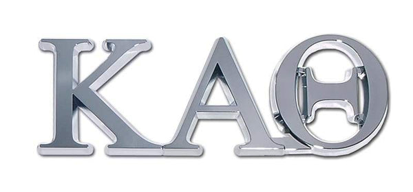 Kappa Alpha Theta Sorority Chrome Car Emblem
