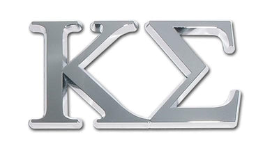 Kappa Sigma Fraternity Chrome Car Emblem