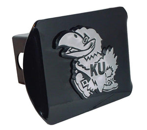 University of Kansas Jayhawk Black Hitch Cover