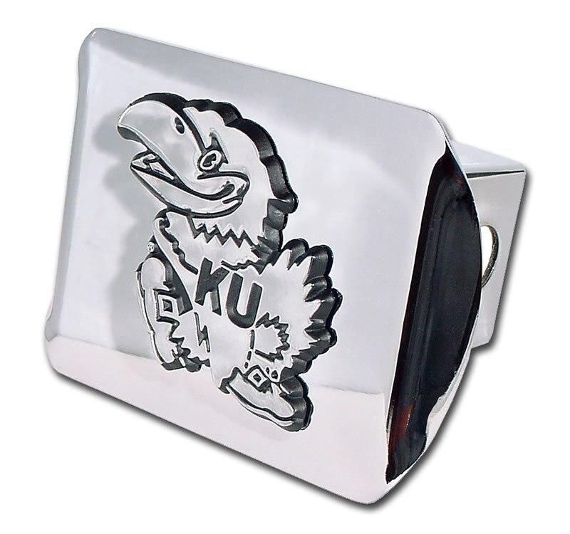 University of Kansas Jayhawk Shiny Chrome Hitch Cover