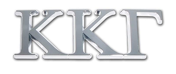 Kappa Kappa Gamma Sorority Chrome Car Emblem