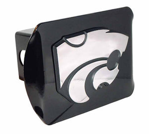 K State Powercat Black Hitch Cover