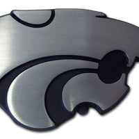 K State Powercat Matte Chrome Car Emblem