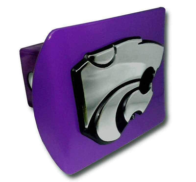 K State Powercat Purple Hitch Cover