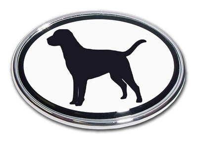 Labrador Retriever Chrome Car Emblem