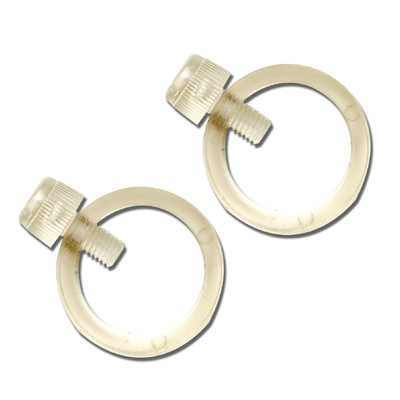 Clear Acrylic 1 Inch Mounting Clamp Pair