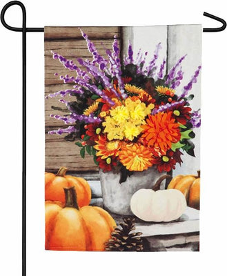 Linen Beautiful Fall Bouquet Garden Flag