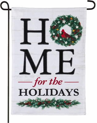 Linen Home for the Holidays Garden Flag