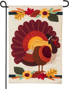 Linen Pilgrim Turkey Garden Flag