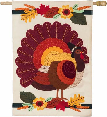 Linen Pilgrim Turkey House Flag