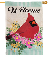 Linen Spring Cardinal Decorative House Flag