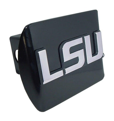 Louisiana State University LSU Block Letter Black Hitch Cover
