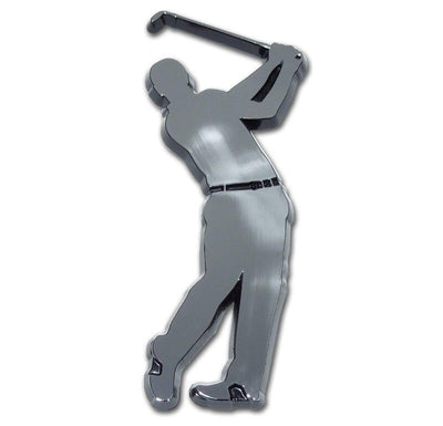 Golf  Swing Chrome Car Emblem