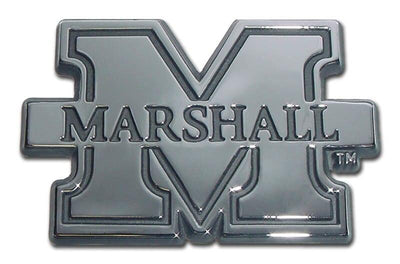 Marshall University Chrome Car Emblem