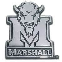 Marshall University Buffalo Chrome Car Emblem - Chrome Car Emblems | Trailer Hitch Covers/Collegiate Car Emblems/Marshall University - I AmEricas Flags