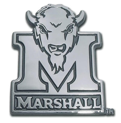 Marshall University Buffalo Chrome Car Emblem