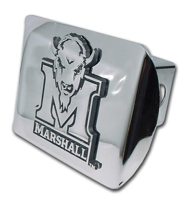 Marshall University Shiny Chrome Hitch Cover