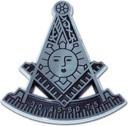 Masonic Past Master Chrome Car Emblem