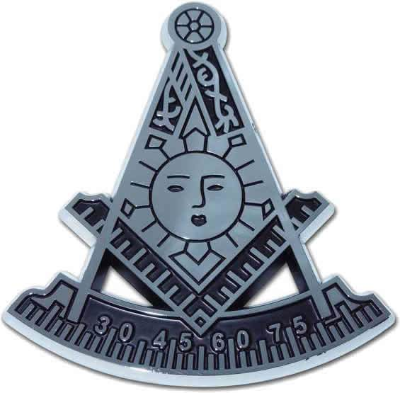 Masonic Past Master Chrome Car Emblem - Chrome Car Emblems | Trailer Hitch Covers/Masonic Car Emblems - I AmEricas Flags