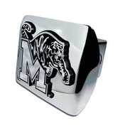 University of Memphis Shiny Chrome Hitch Cover