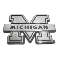 University of Michigan Chrome Car Emblem