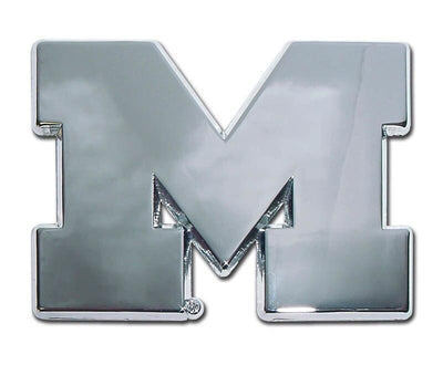 University of Michigan M Chrome Car Emblem