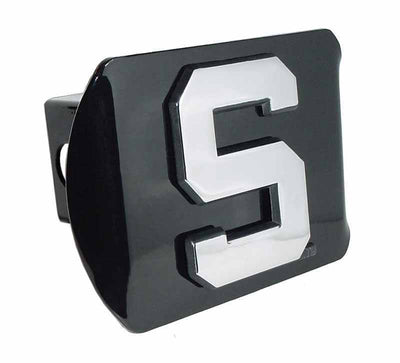 Michigan State University S Black Hitch Cover