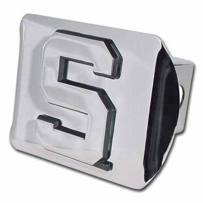 Michigan State University S Shiny Chrome Hitch Cover