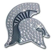 Michigan State University Spartan Crystal Chrome Car Emblem